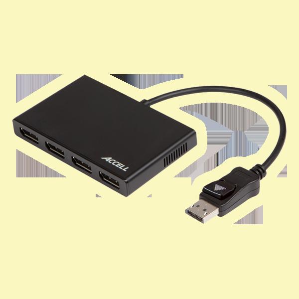 DisplayPort 1.2 to 4 DisplayPort Multi-Display MST Hub