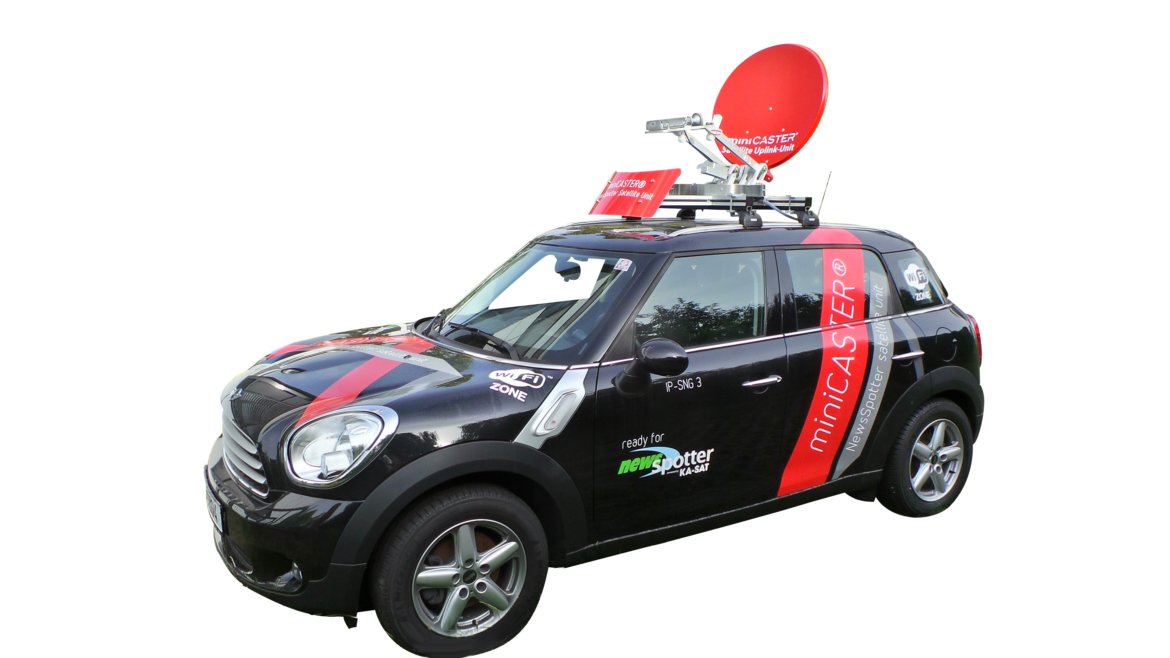 Satellite-Uplink NewsSpotter Car Unit