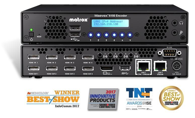 Maevex 6150 Quad 4K Enterprise Encoder MVX-E6150-4