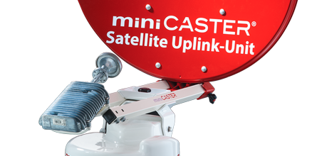 Satellite-Uplink Fly-away Unit Autopointing